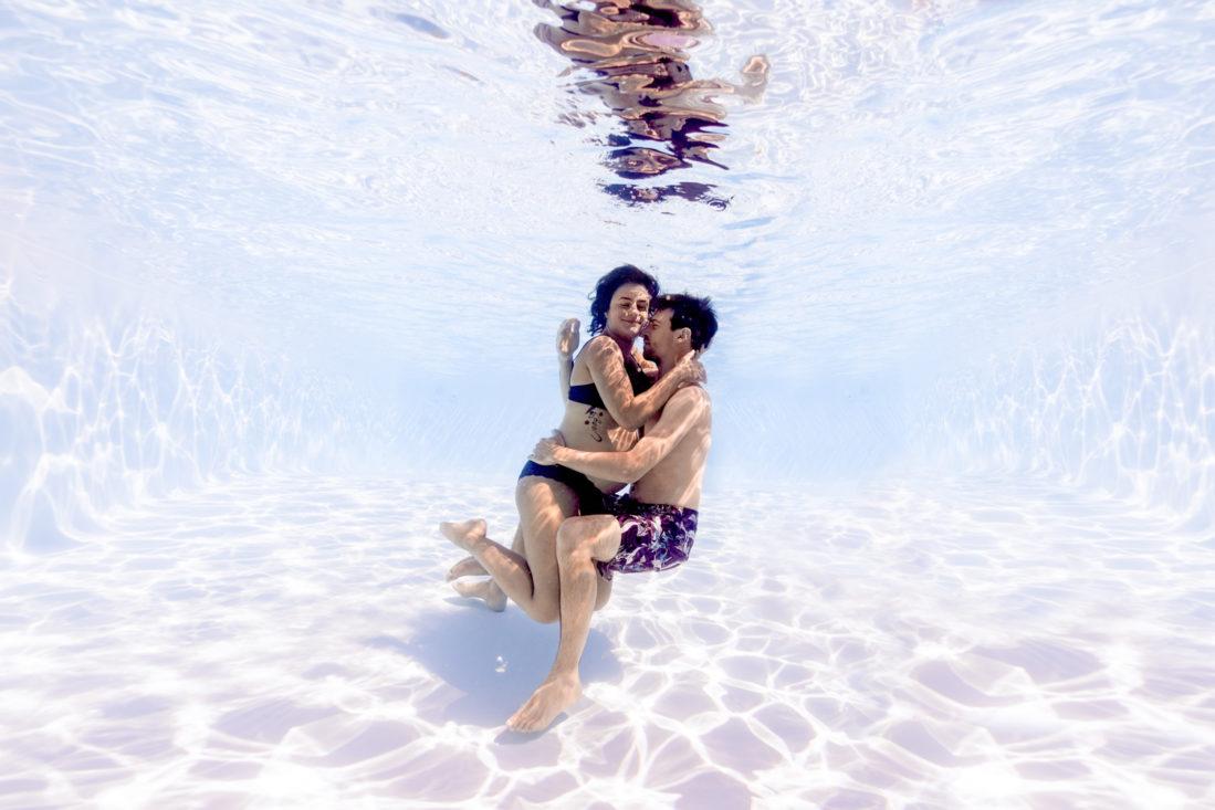 underwater aquatique couple armelle dupuis