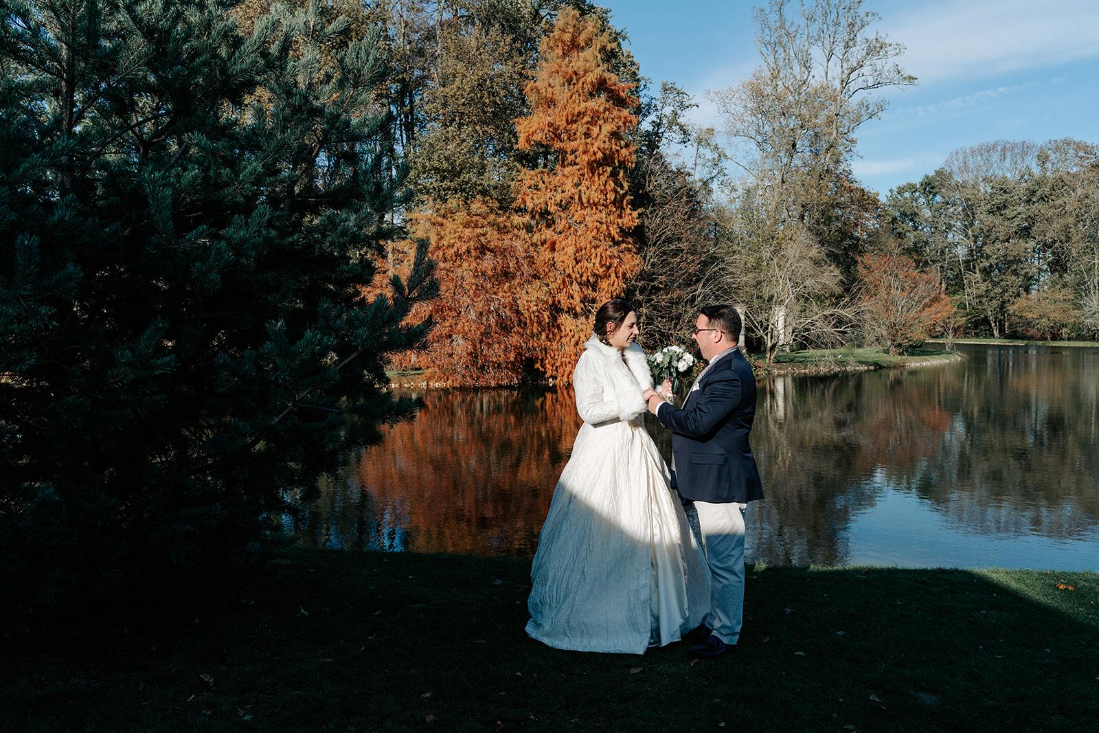 mariage photo couple hiver armelle dupuis